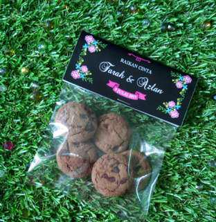Chocolate Chips with Event Label Doorgift / Berkat