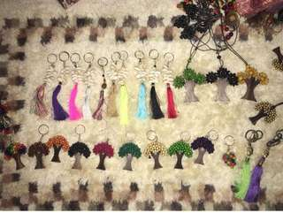 On hand tassel accessories for rattan bags