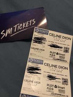 Celine Dion Lower Box tickets