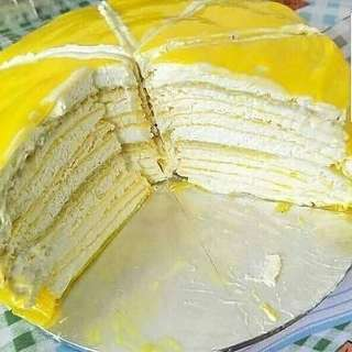 Durian cake & durian crepe