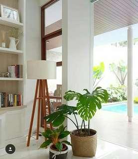 Home Decoration Wooden Standing Lamp/ Lampu Lantai