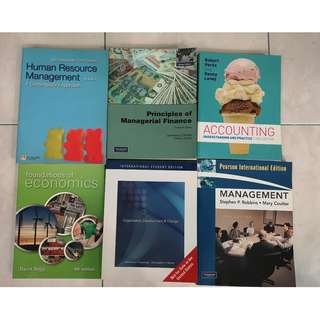 Multiple Used Management Textbooks