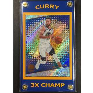 Stephen Curry Sports Card Refractor - GS Warriors MVP