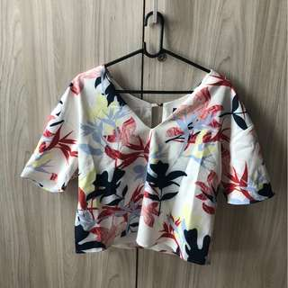 Floral Cropped Top