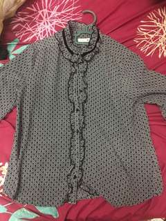 Black Tops/Blouse for Work/Casual