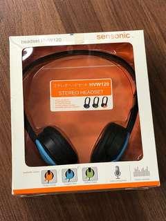 BNIB Sensonic stereo blue headset HVW120