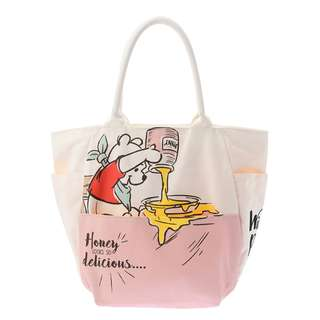 Japan Disney Store Color of Pooh Canvas Tote Bag