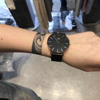 DW 黑鋼鏈 手錶