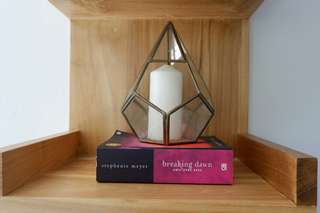 Home Decoration Hexagonal Tembaga termasuk lilin
