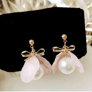 Fairy Elegant Earring (Short Pink)