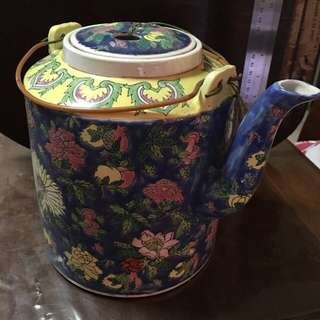 Large colourful ceramic Teapot for sale