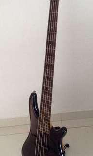 5 String Bass. Active Equalizer. Brand is Vester.