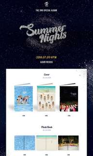 [PRE-ORDER] TWICE SUMMER NIGHTS (2nd special album)