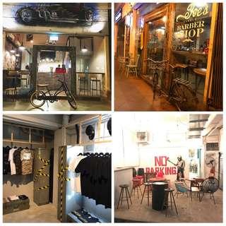 Barber shop with cafe for rental