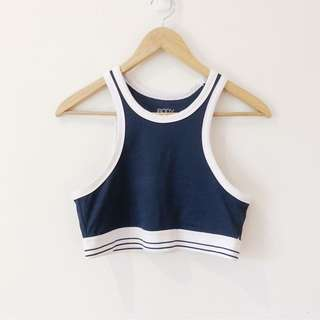 Cotton On Blue and White Sports Bra