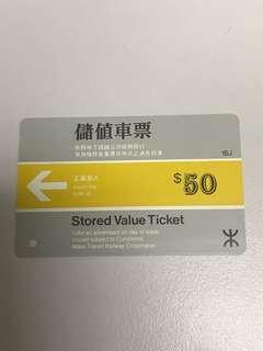 地鐵車票早期儲值車票