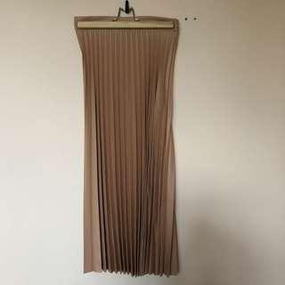 Zara Peach Pleated Skirt