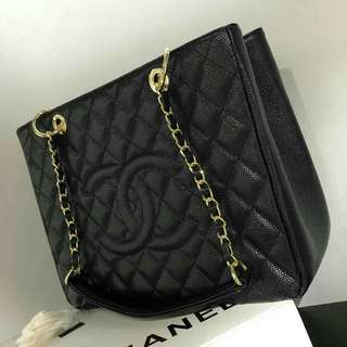 Chanel Giant Shopping Tote Caviar Black