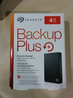 "Seagate 4TB Portable External HDD Hard Disk Drive Backup Plus 4.0 TB external 2.5"" Portable"