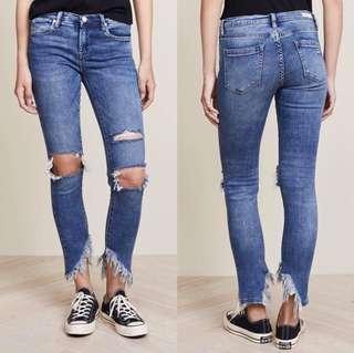 紐約牛仔品牌BLank NYC刷破窄管牛仔褲