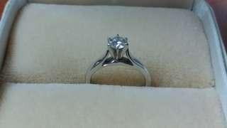 14k白金54份鑽石戒指