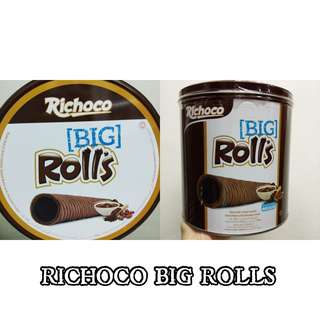 BIG CHOCOLATE WAFER ROLLS