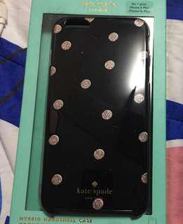 Original black polka kate spade iphone 6plus /6splus case