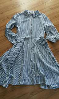 Bysi blue striped dress