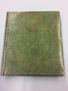 1940s 英國銀沙鯊魚皮書型煙盒