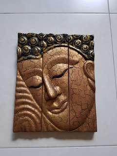 👍🏻👍🏻Buddha face wooden wall display -calm n relax