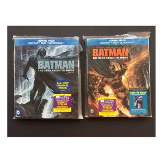 Batman: The Dark Knight Returns Part 1 & Part 2 blu ray