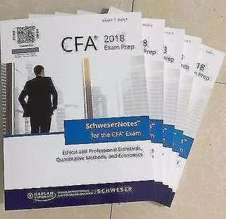 CFA level 2 schweser textbook & kaplan study guide