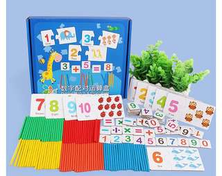 Numbers Maths Mathematics Counting Sticks Educational Montessori Teaching Aids Toys