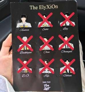 WTS/MY - EXO ElyXiOn enamel pin (xiumin)