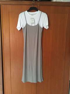 Baju Dress Colorbox, dress abu abu putih