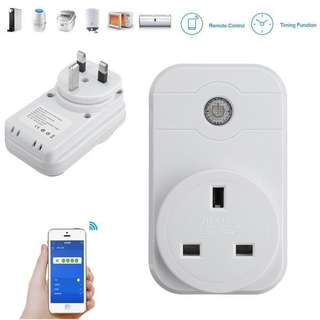 WIFI REMOTE CONTROL SMART SOCKET HOME SWITCH UK PLUG FOR IPHONE 7/7PLUS SAMSUNG S8 XIAOMI