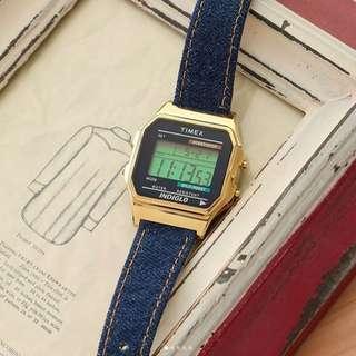 Timex 80 Digital Watch 復古跳字錶 牛仔布 行貨 1年保養