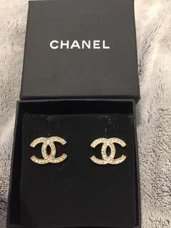 Authentic Chanel Moscova Logo Earrings RRP$600