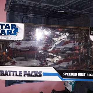 Star wars clone wars 2pcs speeder bike MOC