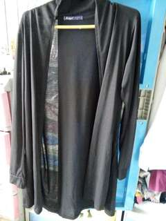 Black cardigan long
