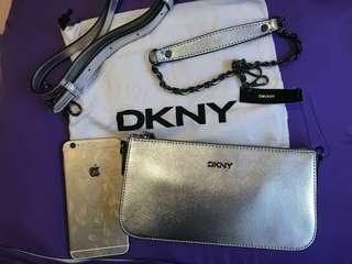 上膊或側揹DKNY袋,附送MiuMiu 旅行證件/化妝袋1個
