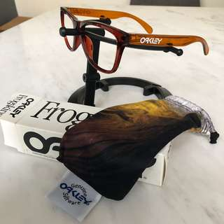 Oakley Frogskins RX Prescriptions frames limited edition MOTO collection nitrous