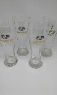 Set if 4 glasses Brugge triple