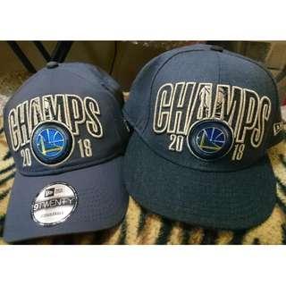 Official NBA Golden state warriors FINALS hats