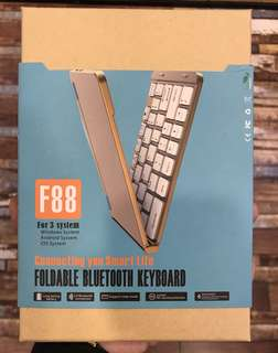 F88; Wireless Bluetooth Sleek & Foldable Keyboard