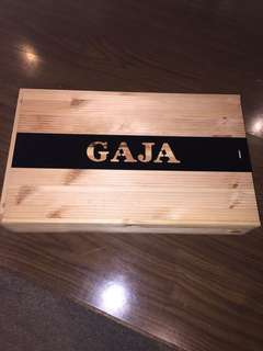 Wine Wooden Box/ Crate ; Gaja
