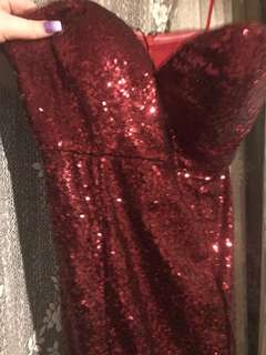 Red Formal Dress Size 12