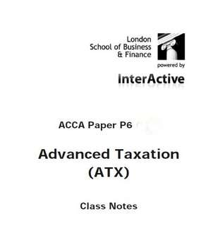 ACCA P6-SGP Jun'18 Textbooks, Class notes & Revision kits