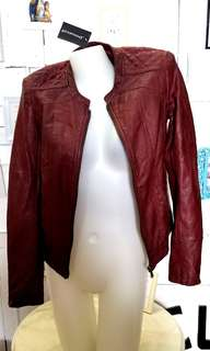 FOR SALE *NEW* red leather jacket