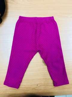 Uniqlo Pink Polka 3/4 Leggings
